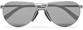 Ermenegildo Zegna Aviator-Style Gunmetal-Tone Sunglasses