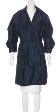 Andrew Gn Silk Trench Coat