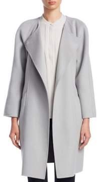 Emporio Armani Roundneck Wool Blend Coat