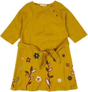 Caramel Belsay Embroidered Flower Dress