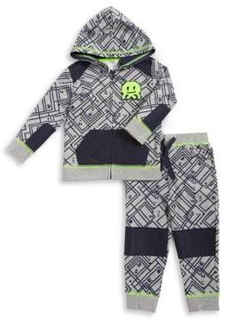 Petit Lem Baby Boy's Three-Piece Techno City Tee, Zip Hoodie and Pants Set