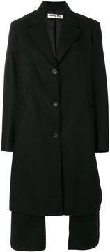 Aalto layered single breasted coat