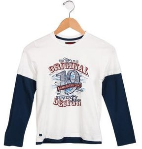 Catimini Boys' Striped Long Sleeve Shirt