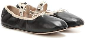 Valentino Rockstud Ballet leather ballerinas