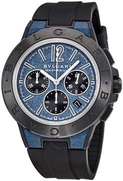 Bvlgari Diagono Chronograph Automatic Blue Dial Men's Watch