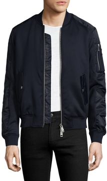 Armani Exchange Men's Solid Stand Collar Jacket