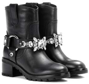 Marc Jacobs Embellished leather ankle boots