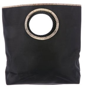 Kate Spade Leather-Trimmed Woven Bag - BLACK - STYLE