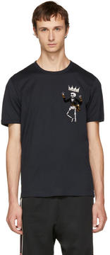 Dolce & Gabbana Black King Skeleton T-Shirt