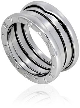 Bvlgari B.Zero1 3 Band 18K White Gold Ring - Size 5