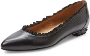 French Sole Women's Garnet Leather Pointed-Toe Flat