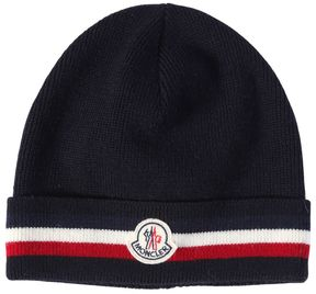 Moncler Striped Wool Hat