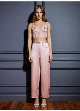 Fleur Du Mal | Silk Jeans | M | Pink