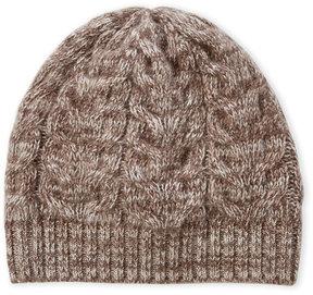 Portolano Melange Cable Knit Cashmere Beanie