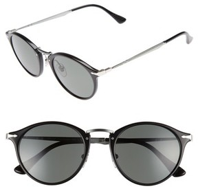 Persol Men's Sartoria Typewriter 51Mm Polarized Sunglasses - Black/ Green