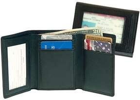 Royce Leather Men's Tri-Fold Wallet with Double ID Window in Genuine Leather