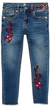 7 For All Mankind Embroidery Ankle Skinny Jeans (Little Girls)