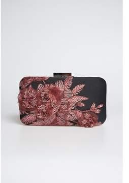 Tadashi Shoji Emroidered 3d Blossom-motif Clutch.