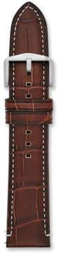 Fossil 22mm Dark Brown Croco Leather Watch Strap