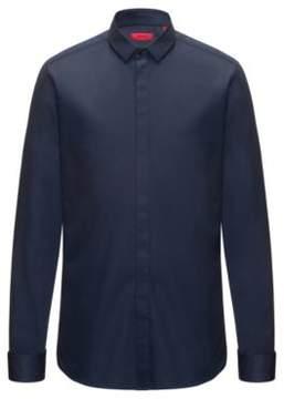 HUGO Boss Easy-Iron Cotton Dress Shirt, Extra Slim Fit Ejinar 15 Dark Blue