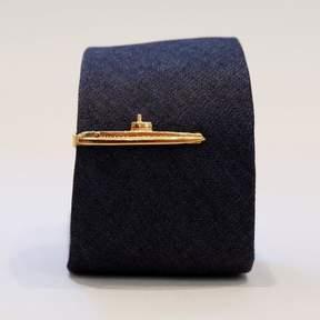 Blade + Blue Vintage Brass Submarine Tie Clip
