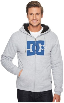 DC Star Sherpa 3 Zip Fleece Top Men's Sweatshirt
