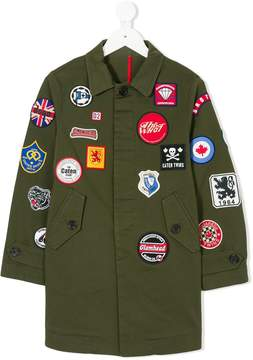DSQUARED2 embroidered patch detail jacket