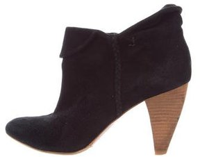 Belle by Sigerson Morrison Suede Pointed-Toe Ankle Boots