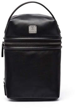 MCM x CR Collection Leather Top-Handle Jet Pack, Black