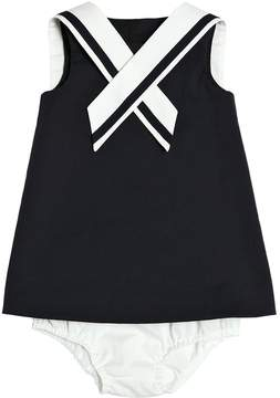 Dolce & Gabbana Stretch Cotton Dress & Diaper Cover