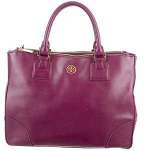 Tory Burch Robinson Double-Zip Tote - BURGUNDY - STYLE