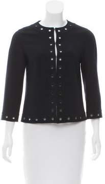 Andrew Gn Grommet Wool Jacket