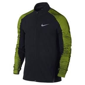 Nike Mens Twill Running Jacket Black/Volt