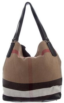 Burberry House Check Tote - BROWN - STYLE