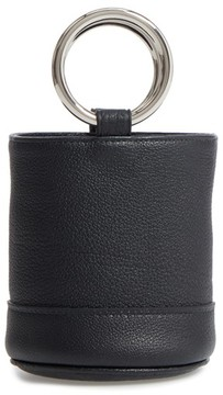 Simon Miller Bonsai Pebbled Leather Bucket Bag - Black