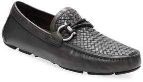 Salvatore Ferragamo Men's Leather Carlo Buckle Loafers