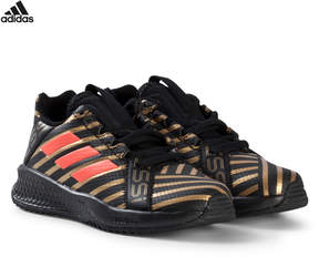 adidas Black, Gold and Red RapidaTurf Messi Trainers