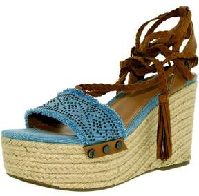 Tommy Hilfiger Women's Lovelle Fabric Light Blue Ankle-High Fabric Pump - 9.5M