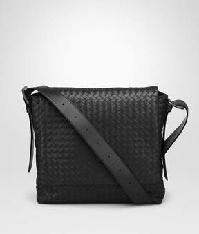 Bottega Veneta Nero Intrecciato Calf Messenger Bag