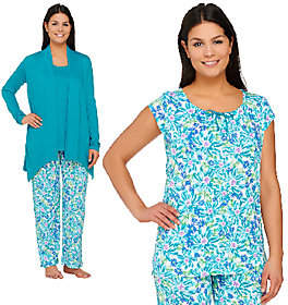 Carole Hochman Ultra Jersey Spring Bloom 4 PC Pajama Set