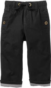 Gymboree Black Jersey-Lined Ripstop Pants - Infant