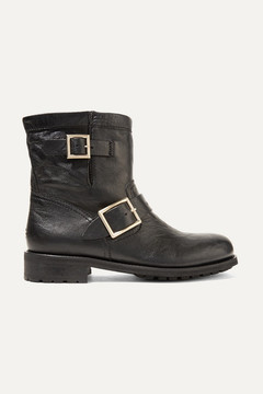 Jimmy Choo Youth Leather Ankle Boots - Black