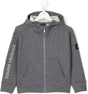 Versace printed logo zipped jacket