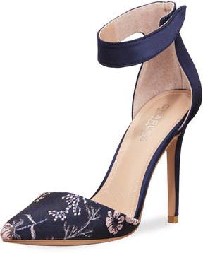 Charles by Charles David Pointer Floral Jacquard Ankle-Strap Pump