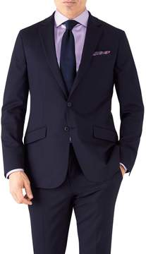 Charles Tyrwhitt Navy Slim Fit Performance Suit Wool Stretch Jacket Size 36