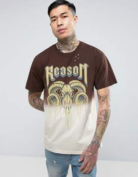 Reason T-Shirt In Dip Dye With Ram Print