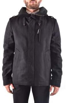 CNC Costume National Men's Black Wool Outerwear Jacket.