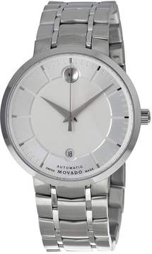 Movado 1881 Automatic Silver Dial Men's Stainless Steel Watch