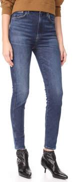 A Gold E AGOLDE Roxanne Super High Rise Skinny Jeans