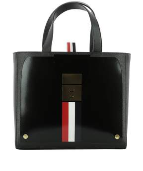 Thom Browne Black Leather Handle Bag
